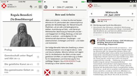 App Hora Benedicti Rezension